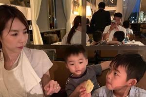 関慎介が家族で食事に行った際の写真