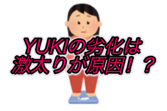YUKIの劣化は激太りが原因なのか?