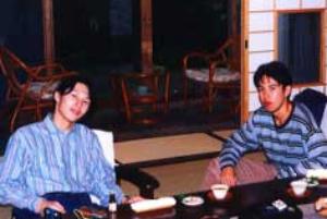 術後1ヶ月後、九州旅行をした際の森徹と兄