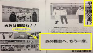 軽井沢高校野球部の甲子園出場歴