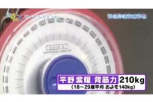 平野紫耀の背筋力はアスリート並みの210kgだった